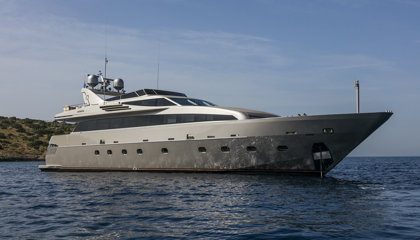 Xanax  Cantieri Navali Lavagna-Admiral 33.80m  2007 / 2019   8 guests   4 cabinsyacht chartering