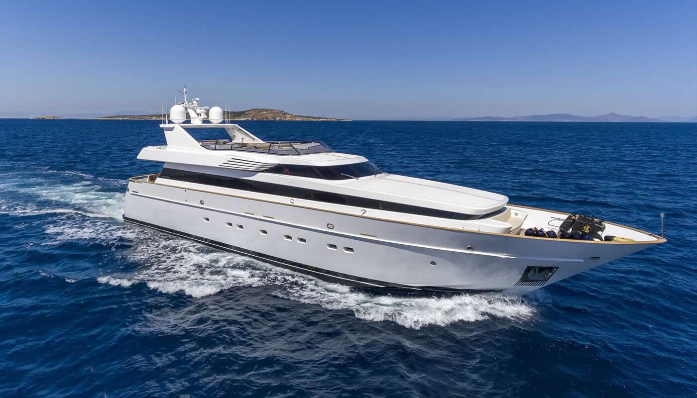 Sanjana   Notika 32.61m  2004 / 2011   10 guests   4 cabins   6 crewyacht chartering