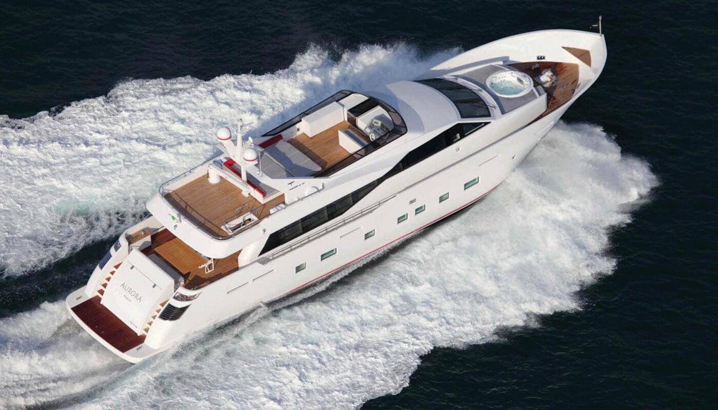 Aurora   Tecnomar 30.60m   2011 / 2019   12 guests   5 cabinsyacht chartering