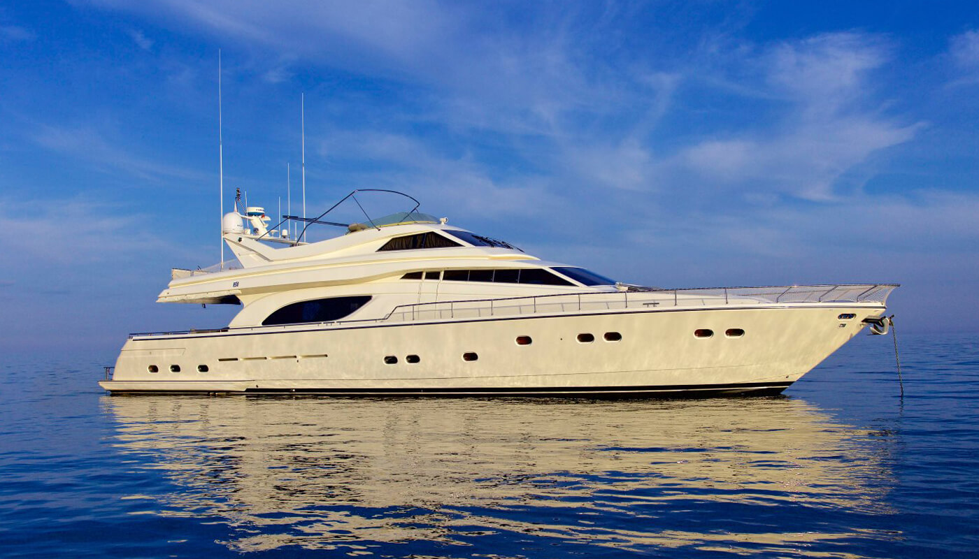 Geepee  Ferretti 24.50m   2001 / 2014   8 guests   4 cabinsyacht chartering