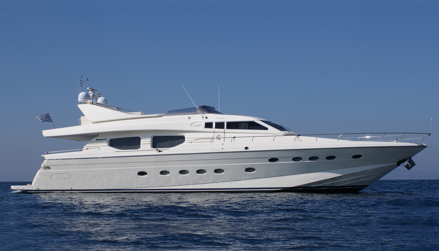 Dilias   Posillipo 24.38m   2006 / 2017   10 guests   4 cabinsyacht chartering