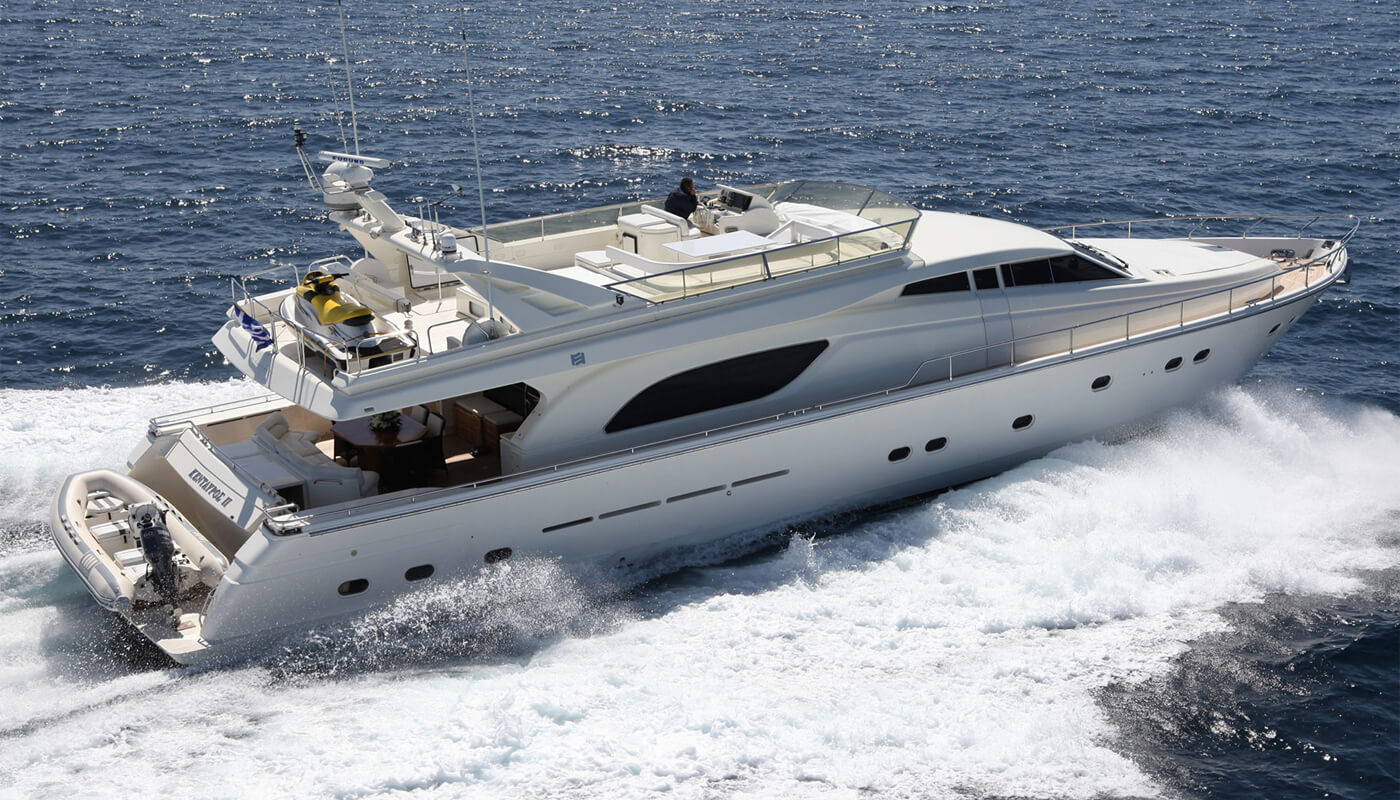 Kentavros II   Ferretti 24.38m   2000 / 2018   8 guests   4 cabinsyacht chartering