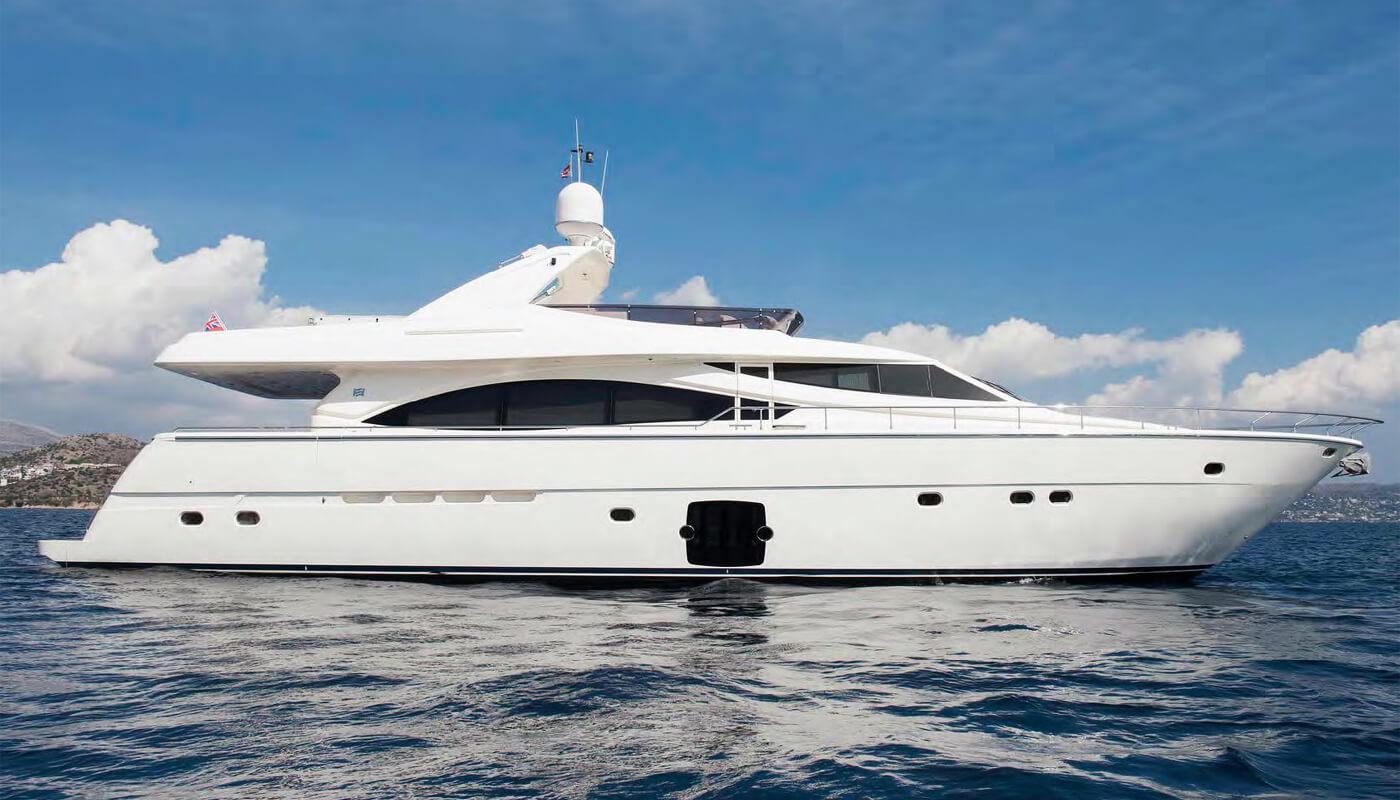 Julie M   Ferretti 25.30m   2008 / 2016   8 guests   4 cabinsyacht chartering