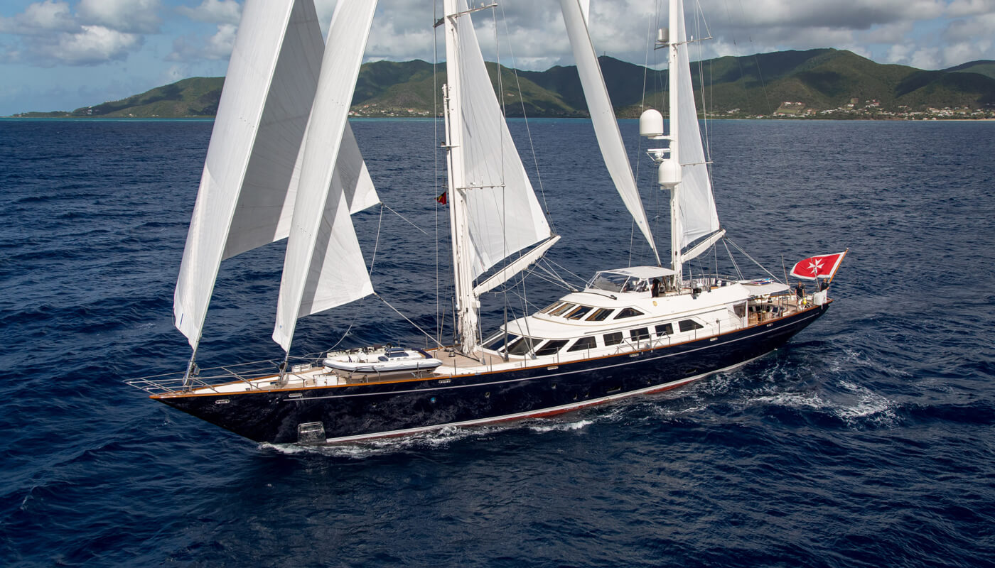 Ellen  Perini Navi 41m  2001 / 2015   8 guests   4 cabins   5 crewyacht chartering